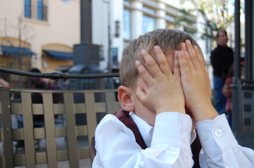 kid boy facepalm
